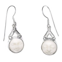 Moon Goddess Face Dangle Earrings