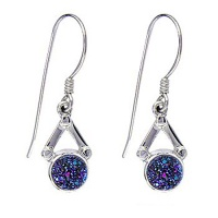 Caribbean Druzy (6mm) Dangle Earrings