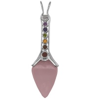 Rose Quartz Pendulum and Chakra Pendant
