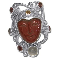 Red Jasper Goddess Ring