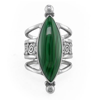 Malachite Marquis Ring
