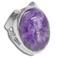 Sterling Silver Charoite Oval Ring