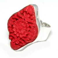 Red Cinnabar Ring