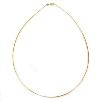 1.5 mm Gold Plated Round Omega Necklace