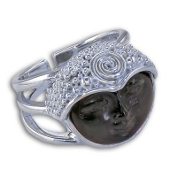 Rainbow Obsidian Goddess Ring