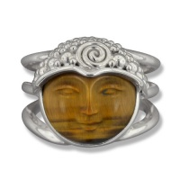 Tiger Eye Goddess Ring