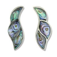 Inlaid Paua Shell Post Earrings