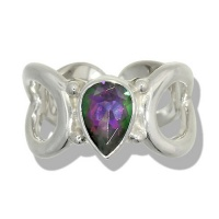Mystic Topaz Faceted Pear Ring