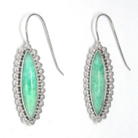 Amazonite Marquis Earrings