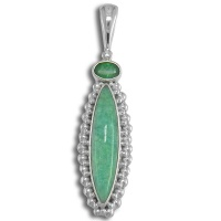 Amazonite & Emerald Pendant