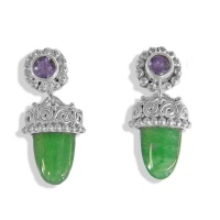 Aventurine and Iolite Post Earrings