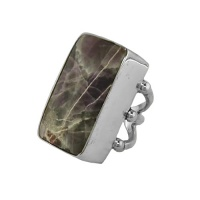 Amatista Amethsyt Rectangle Ring