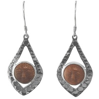 Sandstone Goddess Sterling Silver Dangle Earrings