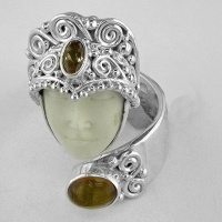 Goddess Ring with Amber & Citrine