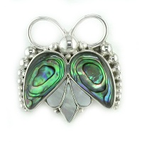 Paua and Mother of Pearl Beatle Pin Pendant