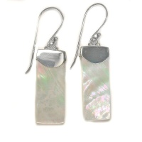 Sterling Silver Mother of Pearl Rectangle Dangles