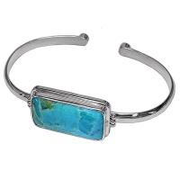 Turquoise Rectangle Cuff Bracelet