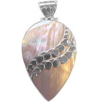Golden Rainbow Shell Pendant
