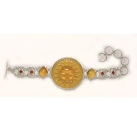 Citrine (synthetic) Sun Bracelet with Amber and Garnet