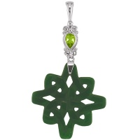 Peridot and Green AVenturine Celtic Pendant