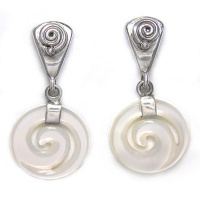 Mother of Pearl Swirl Post Earrings