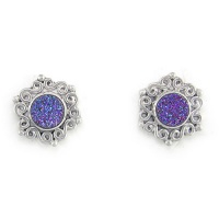 Caribbean Druzy (6mm) Post Earrings