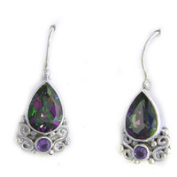 Mystic Topaz and Amethyst Earrings