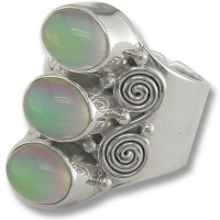 Triple Titanium Backed Moonstone Ring