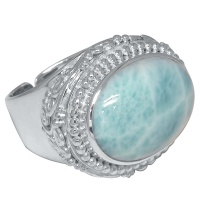 Ornate Larimar Ring