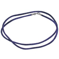 Blue Silk Cord Necklace