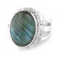 Labradorite Locket Ring