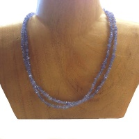 Double Strand Tanzanite Beaded Necklace