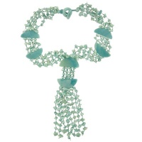 Amazonite Multi Strand Beaded Necklace