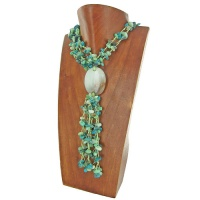 Chrisoprase and Turquoise Beaded Necklace