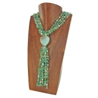 Green Fluoirite and Green & White Pearl Beaded Necklace with Amazonite