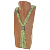 Prehnite and Labradorite Beaded Necklace