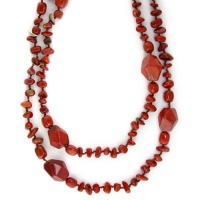 Red Jasper Beaded Necklace 44""