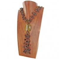 Onyx and Tiger Eye Beaded Necklace