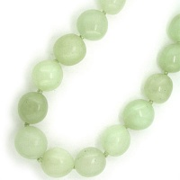 Serpentine Round Tumble Bead Necklace