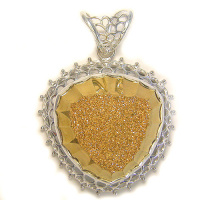Faceted Gold Window Druzy Pendant