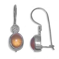 Hessonite Garnet Dangle Earrings