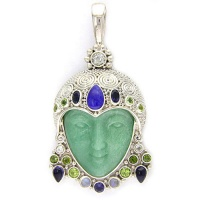 Aventurine Goddess with Lapis and Gemstones