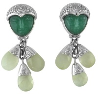 Aventurine Goddess Earrings with Prehnite