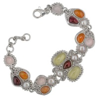 "Multi Gemstone Bracelet with Oro Verde ""Lemon Quartz"""