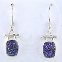 Caribbean Druzy Cushion Shaped Earrings
