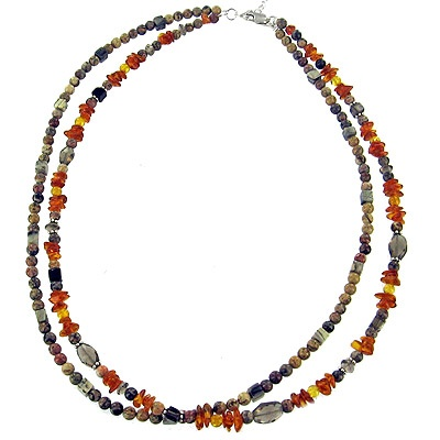 Picture Jasper Double Stranded Beaded Necklace