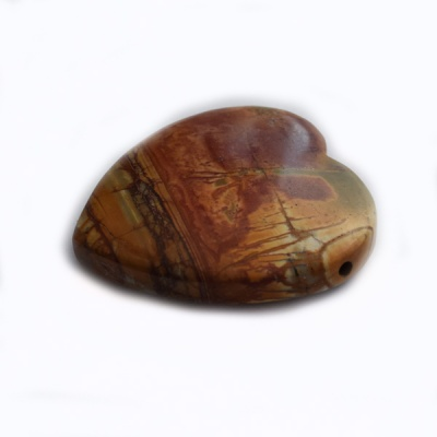 Red Creek Jasper Heart Pendant