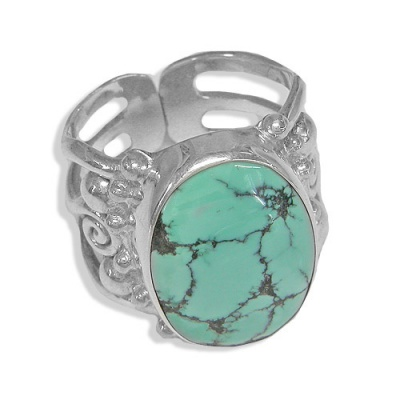 Triple Band Turquoise Ring