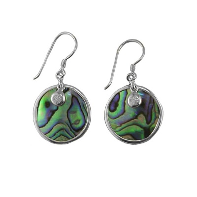 Paua Shell Dangle Earrings