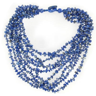 Lapis Eight Strand Beaded Necklace